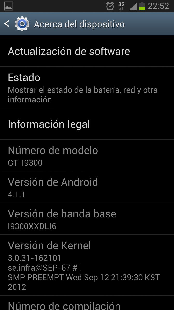 Tomar pantallazos en el Samsung Galaxy S3