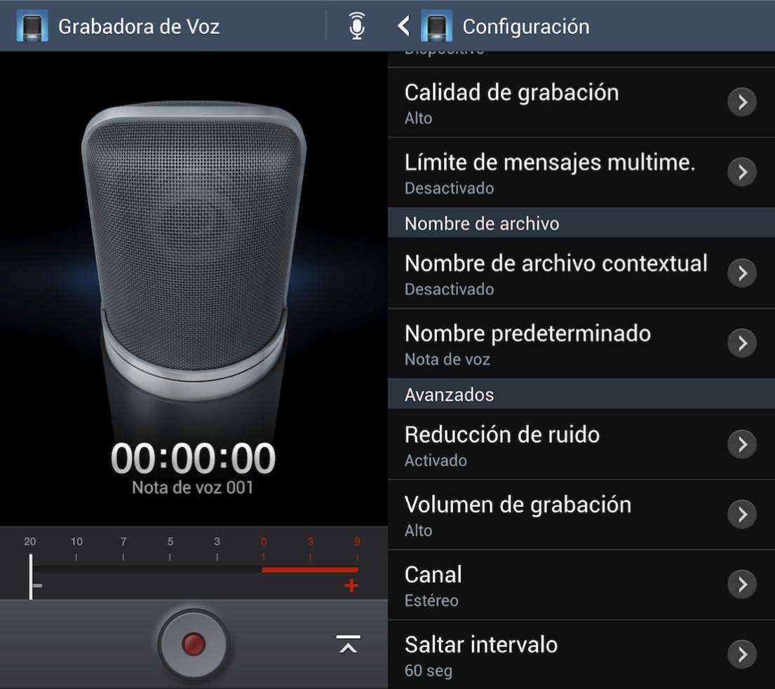 Subir volumen del micrófono al Galaxy S4