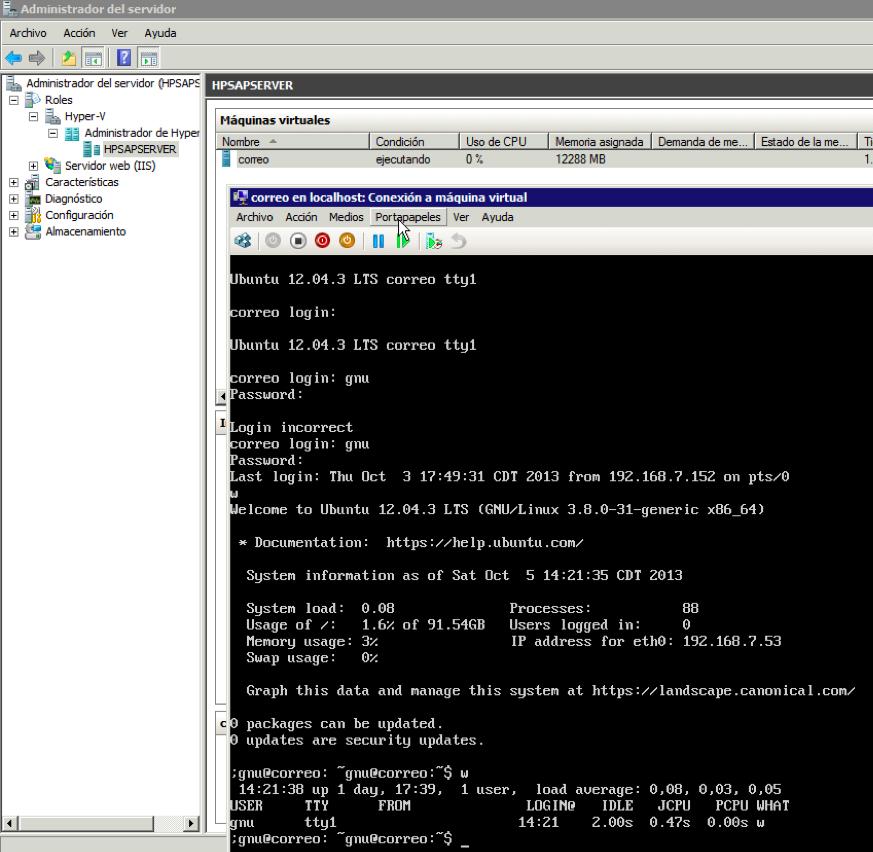 Ubuntu 12.04.3 LTS en Hyper-V (Windows 2008-R2)