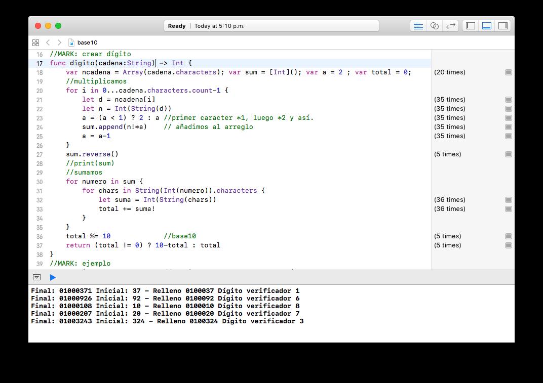 codigo-verificador-base10-swift